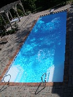 Luxor Deep Fiberglass Pool in Quebeck, TN