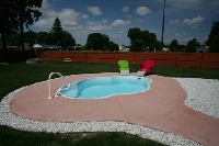 Paradise Fiberglass Pool in Dividing Creek, NJ